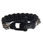 "Браслет Cobra ""Double Skulls"" Black - S"