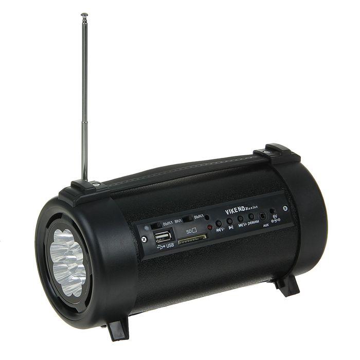 """Радиоприемник """"VIKEND HUNTER"""", USB, SD/MMC, AUX, встроенный фонарик"""