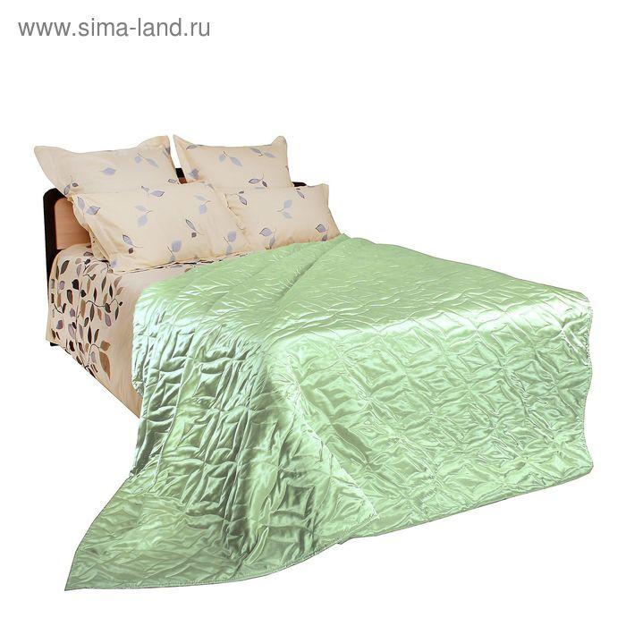 Покрывало двустороннее Люкс, цвет зелёный, размер 150х205 см, атлас 90 г/м2