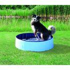 Бассейн Trixie для собак, ф 80 x 20 см, голубой/синий