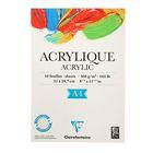 Альбом для акрила А4 210*297 мм Clairefontaine Aсrylic 10 листов 360 г/м2 склейка 96308С