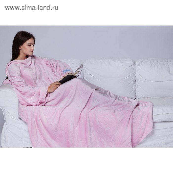 Плед с рукавами Sleepy розовый, 140*180см, 60*33 см, микрофибра, 230 гр/м