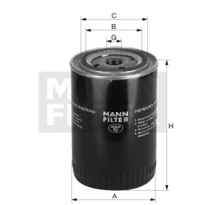 Фильтр масляный MANN-FILTER W11102/35