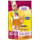 Сухой корм FRISKIES для кошек, против комочков шерсти, кура/овощи, 300 г