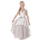 """Карнавальное платье """"Принцесса 002"""", р-р 56, рост 98-104 см, цвет белый"""