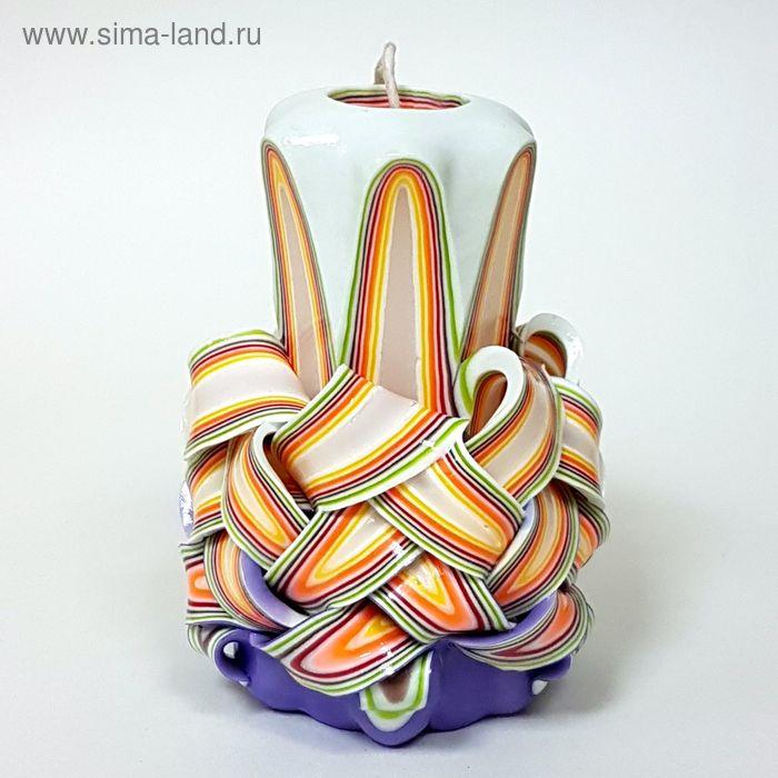 """Свеча резная 10-11см""""Ананас"""" Сливочная"""