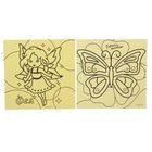 """Набор трафаретов """"Бабочка и фея"""" для рисования песком, 2 шт."""