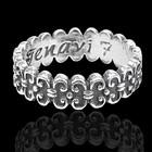"""Кольцо """"Тайт"""", размер 16, цвет черненое серебро"""