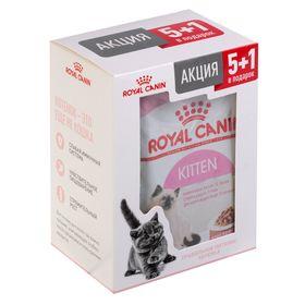 Акция! RC Kitten Instinctive для котят, в соусе, пауч, 6х85 г