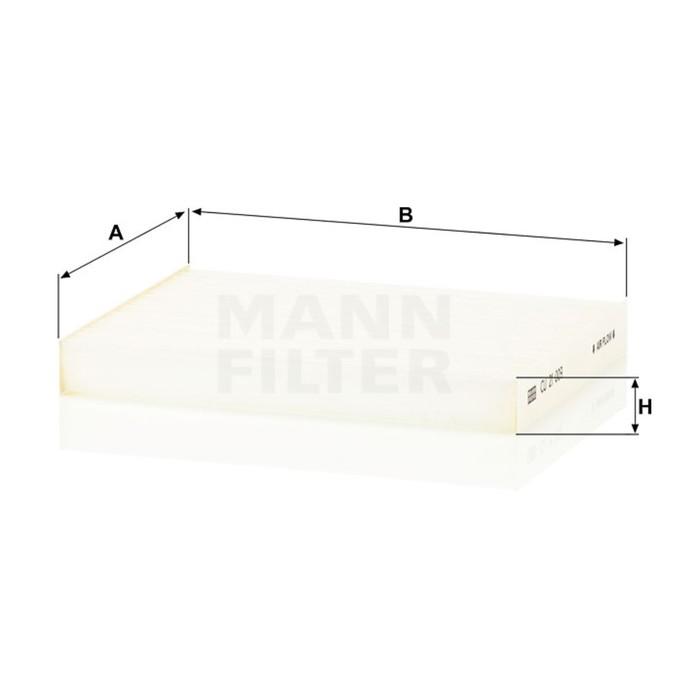 Фильтр салонный MANN-FILTER CU21009
