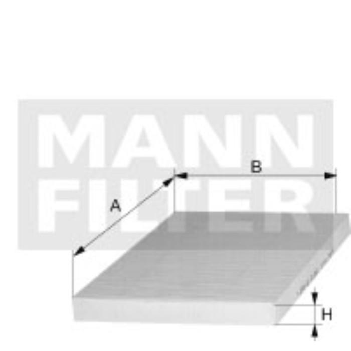 Фильтр салонный MANN-FILTER CU26010