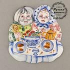 Панно «Дед и бабка», ярославская майолика