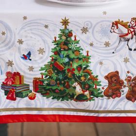 """Скатерть """"Этель"""" Новогодняя сказка, размер 150х220 см, хлопок 100%, 183 г/м2"""