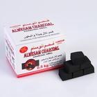 Уголь для кальяна QINGJING CHARCOAL кокосовый, (набор-60 кубиков) 8*10,5см