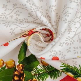 """Столовый набор """"Этель"""" Рождественский бал, скатерть 220х150 см, салфетки 40х40 см - 12 шт., хлопок 100%, 183 г/м2"""