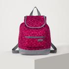 Рюкзак молодёжный на молнии, 1 отдел, наружный карман, цвет фуксия