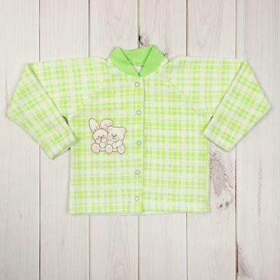 Кофточка детская, рост 68 см, цвет зелёный 201417_М