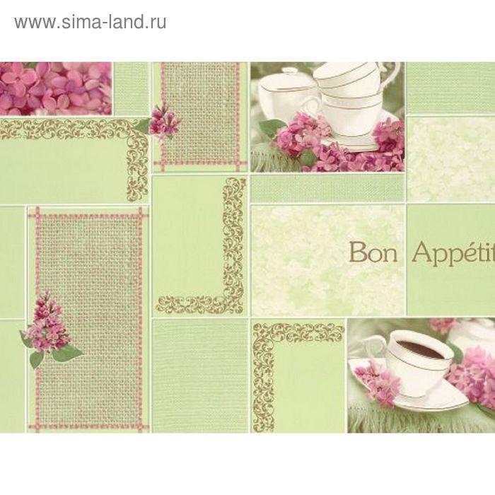 """Обои виниловые 5508 (04) """"Аппетит"""", зелёные, 0,53х10 м"""