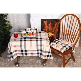 Подушка для стула АДЕЛЬ «Лондон», цвет бордо, размер 35х35 см, полисатин Ош