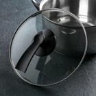 Крышка стеклянная d=24 см LUX , ручка МИКС