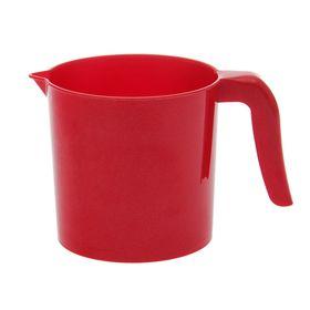 Ковш 1 л 'Рубин', цвет красный Ош