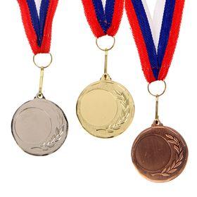 Медаль под нанесение 053 диам 4 см. Цвет зол Ош
