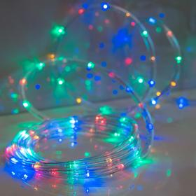 LED шнур 10 мм, круглый, 5 м, чейзинг, 2W-LED/м-24-220V, с контр. 8р, МУЛЬТИ