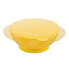 Миска детская на присоске, с крышкой, от 8 мес., цвет жёлтый