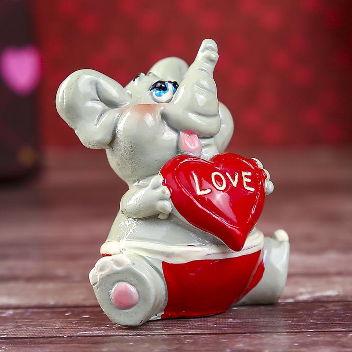 """Сувенир """"Слонёнок. Радость с сердечком"""""""