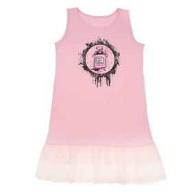 """Сарафан для девочки""""В тренде"""", рост 140 см (72), цвет розовый ДПС348804"""