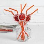 """Трубочка для коктейля """"С днём рождения!"""", бантик, набор 6 шт., цвета МИКС"""
