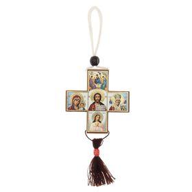 """Крест """"Святой лик"""", деревянный, большой"""