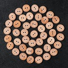 Пуговица деревянная, 2 прокола, 27 мм