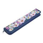Пенал для кистей «Акварельные цветы», для девочки, 340 х 70 мм, ламинированный картон, ПКК 08-5