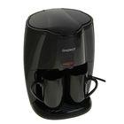 Кофеварка ENERGY EN-601, 450 Вт, 2 чашки, резервуар 280 мл, черная