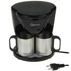 Кофеварка HOMESTAR HS-2010, 450 Вт, 2 чашки, резервуар 240 мл, черный