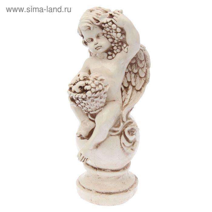 """Фигура """"Ангел с корзиной"""" состаренный 19 × 20 × 42 см"""