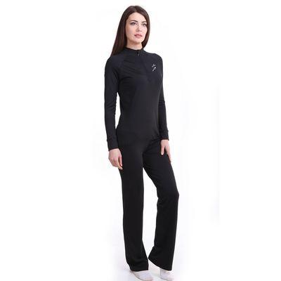 Брюки женские спортивные цвет чёрный, рост 158-164 см, размер 44 (94)