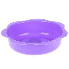Миска детская пластиковая, 500 мл, от 6 мес., цвет фиолетовый Ош