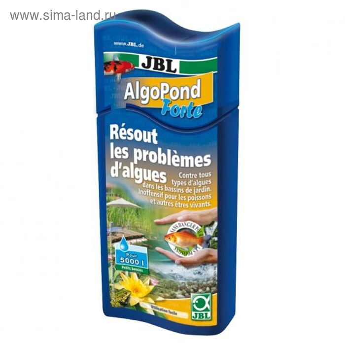 Препарат для борьбы с водорослями в садовом пруду (альгицид), 500 мл на 10000 литров воды, JBL AlgoP