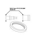 Прокладка присоединительного штуцера для UV-C стерилизаторов на 9, 11, 18 и 36  ватт,JBL O-Ring für