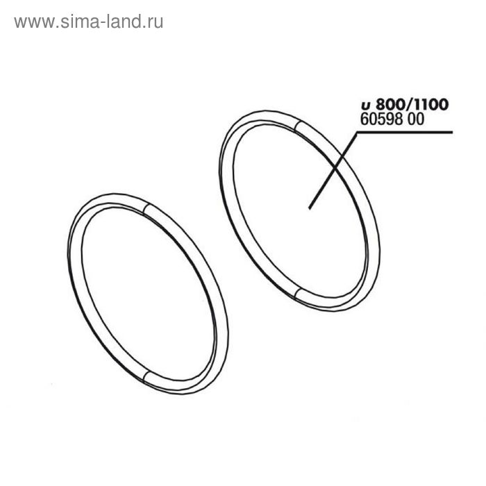 Сменная прокладка для крышки ротора помпы ProFlow u2000,JBL O Ring ProFlow (u), 2 шт.