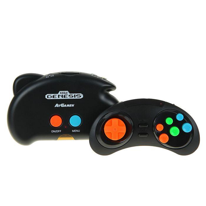Игровая приставка SEGA Genesis NanoTrainer + 390 игр + SD+ адаптер + кабель USB (черный)