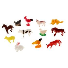 """Набор животных """"Весёлая ферма"""", 12 предметов"""