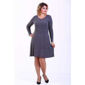 Платье женское, размер 52, цвет серый 321Д550