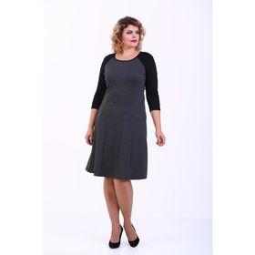 Платье женское, размер 54, цвет серо-чёрный 357Д260
