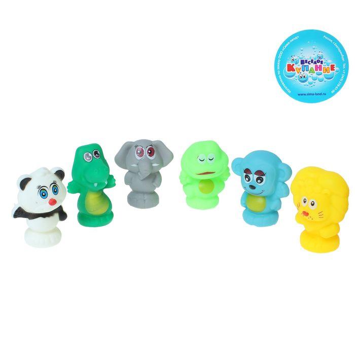 Набор резиновых игрушек с пищалкой, 6 шт.