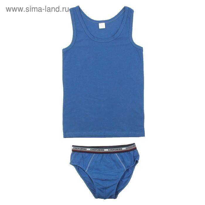 Комплект для мальчика (майка, трусы), рост 164 см (84), цвет индиго CAJ 3153