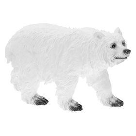 """Садовая фигура """"Медведь белый"""""""