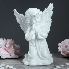 "Статуэтка ""Ангел с крыльями"" белая"